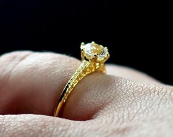 Forever One Moissanite Engagement Ring Rhemba Antique Filigree 1ct 6mm Custom Size White-Yellow-Rose Gold-10k-14k-18k-Platinum