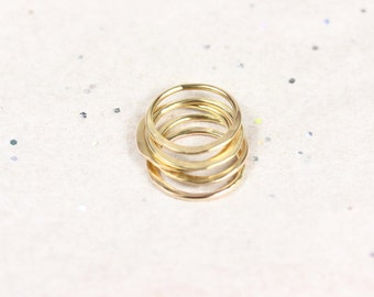 Hammered Mountain  Range Stacking Rings - Delicate Layered Rings - Ring Sets - Minimalist Rings