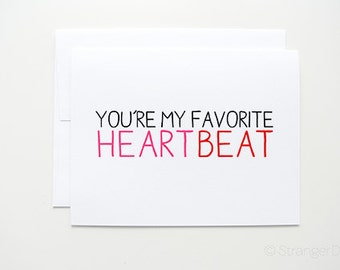 "Valentine's Day Card "" Heartbeat "" greeting card."