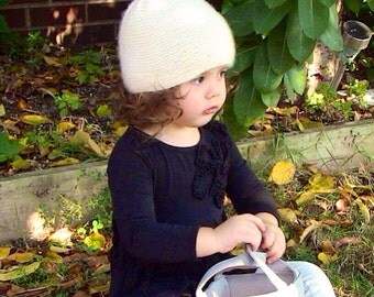 Knit Cashmere Hat Adult Size Free US Shipping