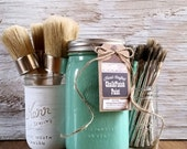Handmade ChalkFinish Paint, TurquoiseStone, Turquoise Furniture, Turquoise Frame, Painted Furniture, Turquoise Chevron, Turquoise Chairs, Up