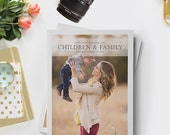 SALE Photography Magazine Template, Photography Magazine Template for Photoshop, Digital Magazine Template, Children & Family Portraits - FM