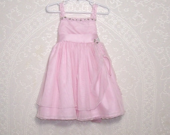 Size 3T - Flower Girl Dress - by Blueberi Boulevard - Party - Toddler - Pink - Tulle - Easter