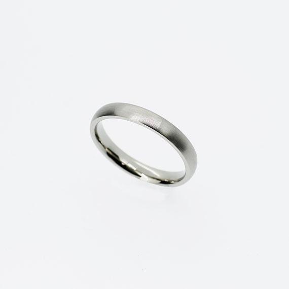 Thin Palladium Wedding Band Palladium Ring Matte Ring