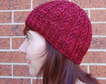 Texture Beanie Unisex Knit Hat Pattern - FASCINATION HAT Knitting Pattern PDF - Instant Download