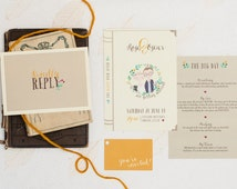 Happy Ever After Wedding invitation samples