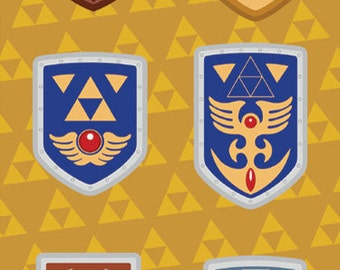 Legend of Zelda Shield Set 01 | Vinyl Sticker Sheet
