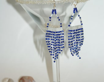 Blue A-Frame Style Earrings
