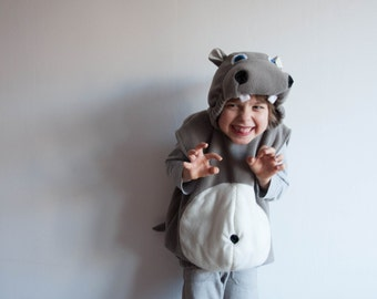 Hippopotamus Costume, Toddlers Halloween Costume, Party Costume, For Boys or Girls, Toddler Hippo Costume,  Rosenmontag Kostüm