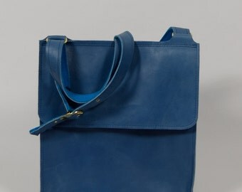 Anna - blue leather bag