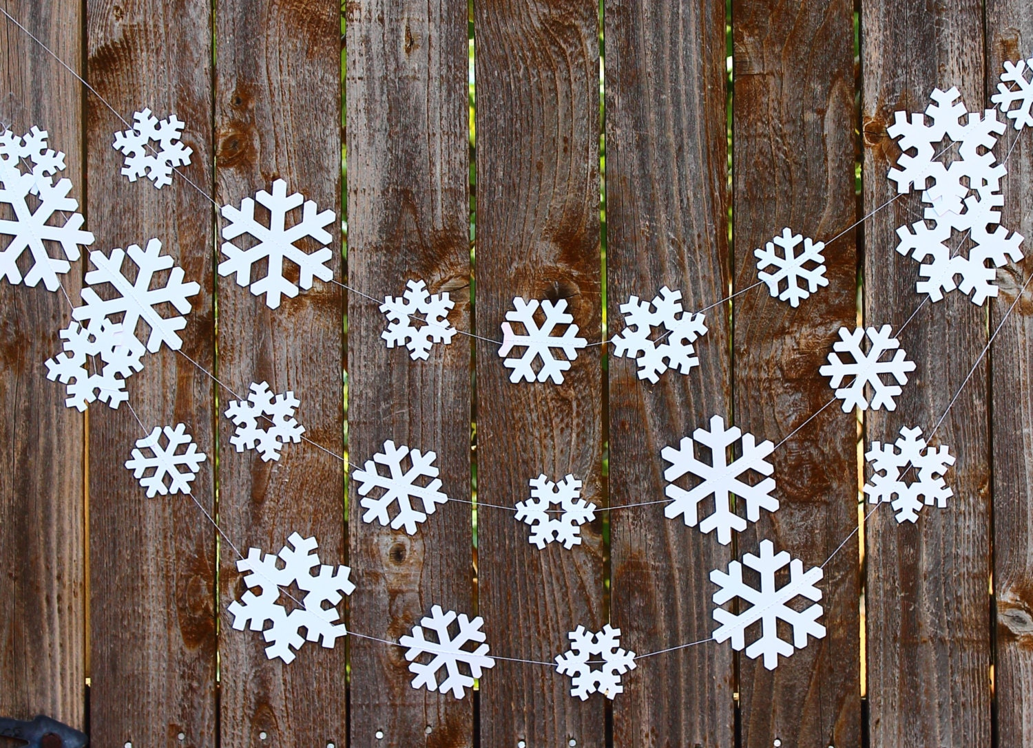 Snowflake Paper Garland Photo Prop Holiday Decor Winter