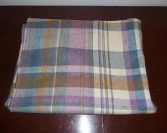 Vintage fabric soft woven plaid 1.5 yards