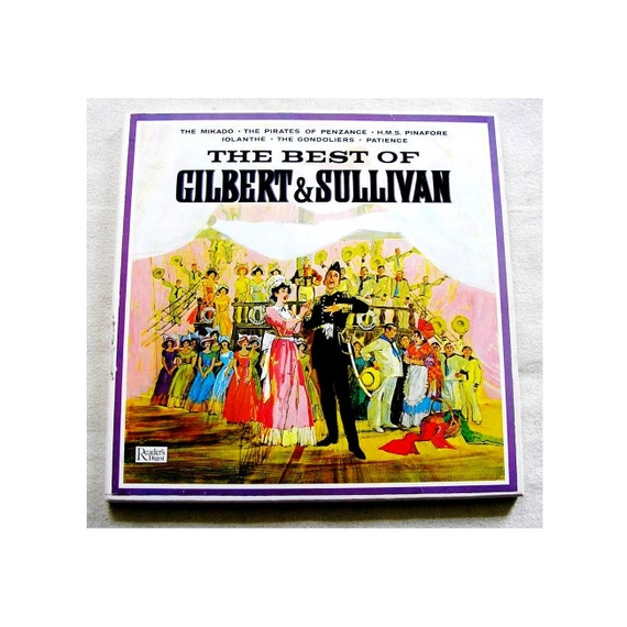 Best Of Gilbert And Sullivan 3 Lps Vinyl Records Boxed 1963