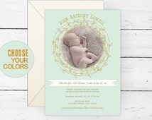 Boy sip and see invitations| Mint gold sip n see baby shower invites| Modern baby shower invitation| New baby boy announcement photo card.
