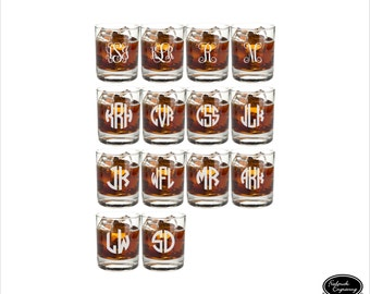 14 Engraved Whiskey Glasses, SHIPS FAST, Custom Engraved Whiskey Glasses, Personalized Engraved Whiskey Glasses, Groomsmen Whiskey Glasses