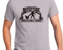 Bigfoot, Sasquatch ,Yeti, T-shirt,Sasquatch Outfitters, fly fishing, fishing,funny, t shirt ,Bigfoot shirt,Fly  Tying,fishing shirt ,Fishing