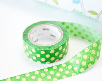 Washi Tape Limited Edition in Green - Planner Polka Dot Tape in Australia