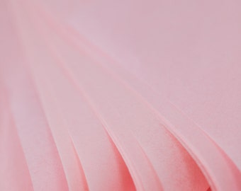 """Light Pink Tissue Paper 48 Sheets   Bulk Tissue Paper in Blush / Pale Pink - 20"""" x 30"""" Sheets"""