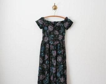 80s purple hue off shoulder dress