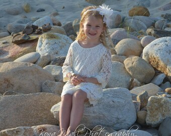 flower girl dress ivory flower girl dress girls lace dress lace dress toddler lace dress boho flower girl dress flower girl dress lace