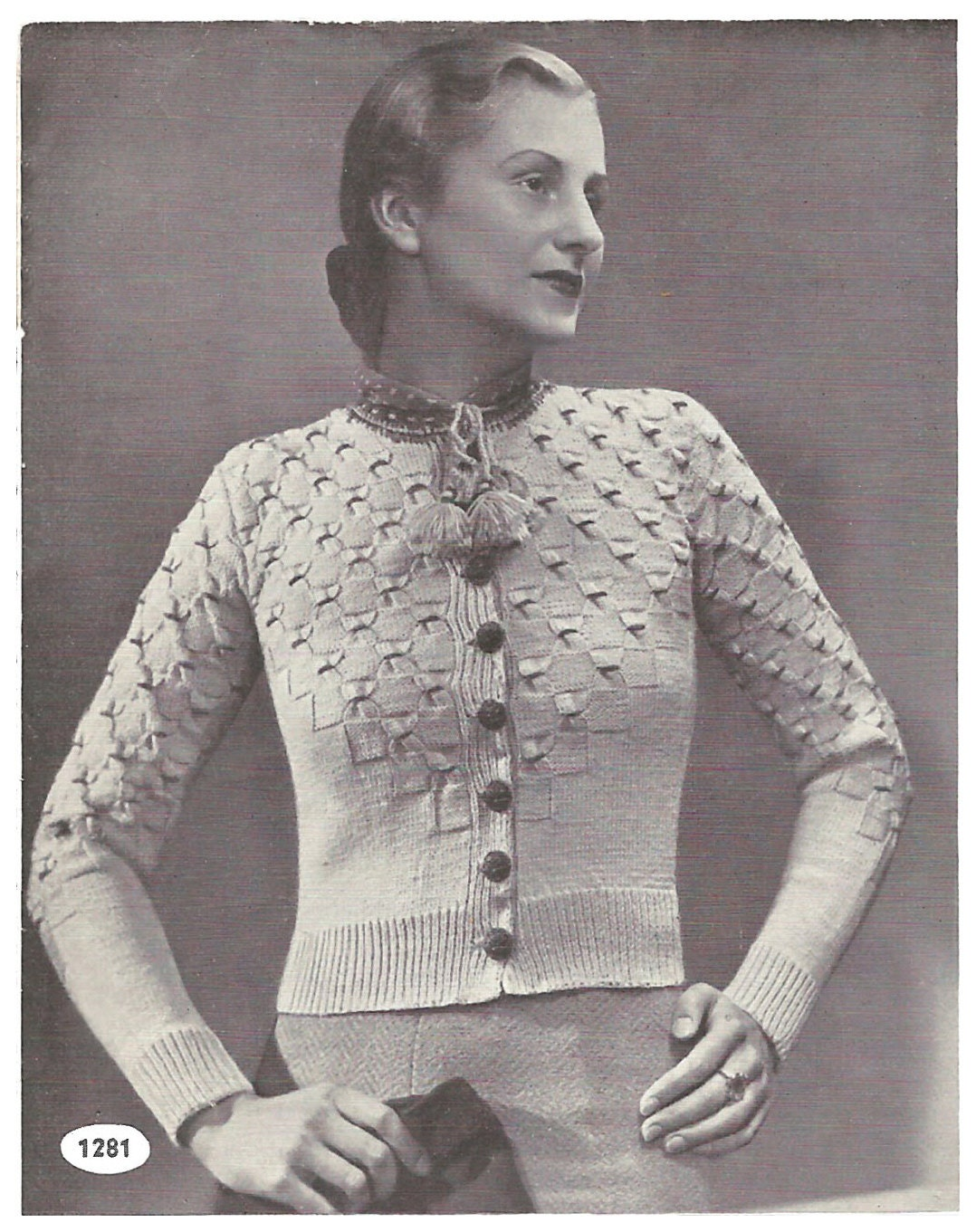 1930s Tyrolean Cardigan with smocking