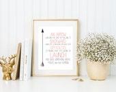 Arrow Definition Quote | 8x10 | Print