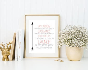 Arrow Definition Quote | 8x10 | Print