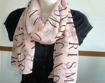 Womens Fashion Scarf, Pink Scarf, Cream Scarf, Black Scarf, Light Weight Scarf, Women Scarf, Scarves, Teacher Gift