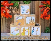 Personalized Dr Seuss, Oh, The Places You'll Go, Storybook Wooden Blocks, for Nursery Decor, Birthday, Gift for Boys, Girls Large Medium