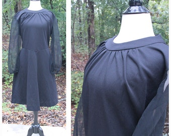 SALE: Vintage BETTER HALF Black Dress • Material Collections