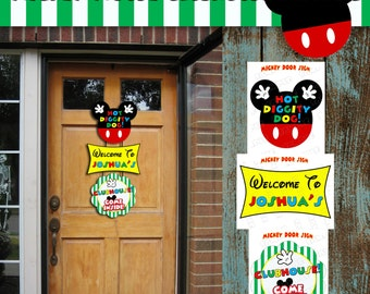 Mickey Mouse Clubhouse party door sign large sign with name personalized mickey mouse party UPrint printable sign