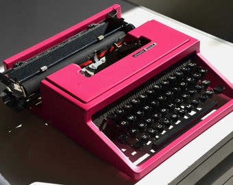 CUSTOM MADE - Pink/any other color - Olivetti Dora Vintage typewriter - Working Perfectly