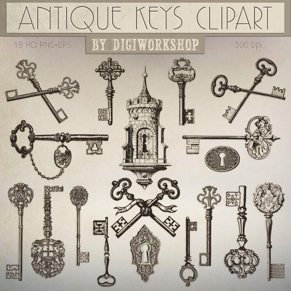 Antique Keys Clip Art Antique Keys Clipart