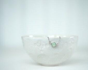 Mint Green Gem and Silver Bracelet