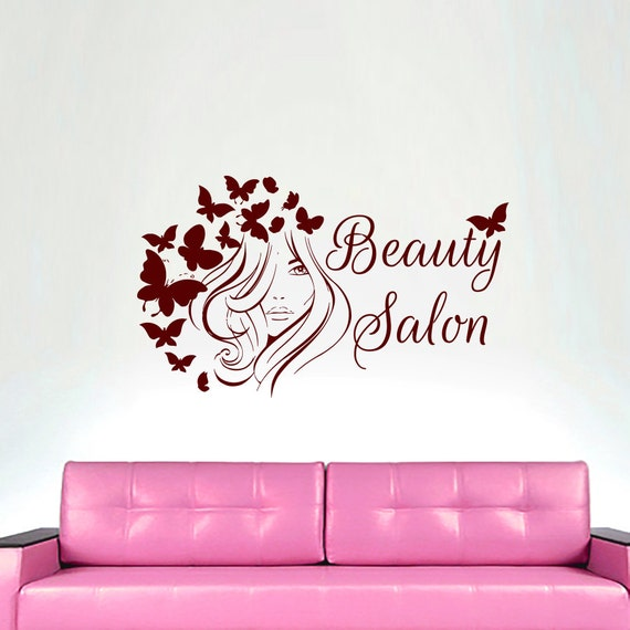 wall decals hairdressing hair beauty salon decal by cozydecal. Black Bedroom Furniture Sets. Home Design Ideas