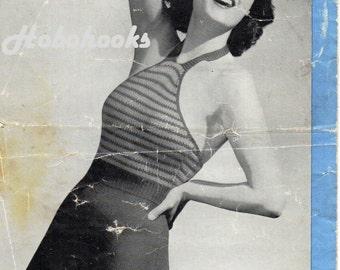 Womens Knitting Pattern 1940s Ladies Swimming Costume Bathing Suit Swimwear 32-34 inch 3 Ply Ladies Knitting Pattern PDF Instant download