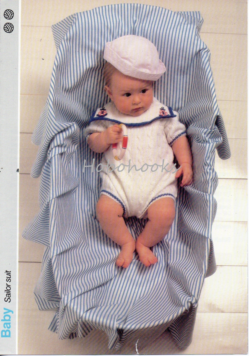 Baby Knitting Patterns Baby Sailor Suit Baby Rompers Baby