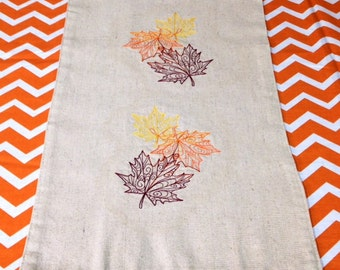 Table Runner, Fall Table Runner, Fall Home Decor, Fall Leaves, Autumn Leaves, Embroidered Tablecloth, Fall Tablecloth, Fall, Autumn Decor
