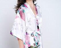bride robes silk robe women white silk robe luxury bathrobe women silk robes house robe personalized robes robe satin short special wedding