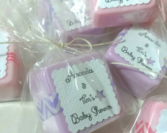Baby girl Shower Favor soaps - 12 Wedding - Bridal - unique Birthday Party Favors -  Personalized