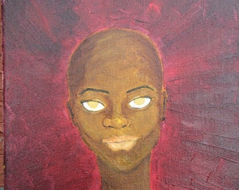 Bald Beauty 11x14 Oil Painting