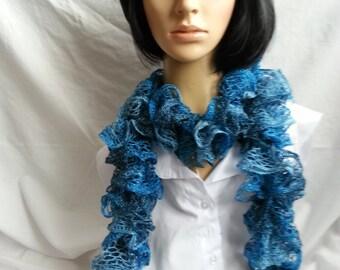Ruffled Knit Scarf