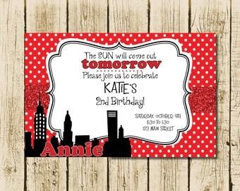 Annie Invite plus a  FREEBIE just for fun! Annie Invitations, Annie Birthday, Annie , Digital Invite, PDF & JPEG included