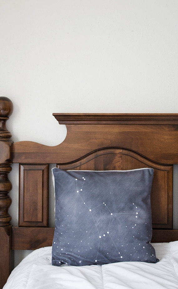 Orion constellation throw pillow cover by bellesandghosts for Constellation fleece fabric