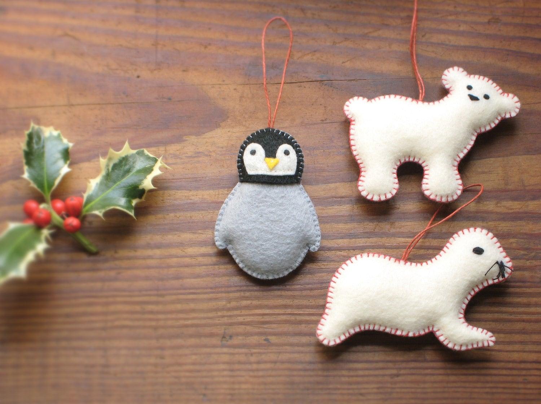 Hand made Felt Ornaments
