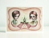 Romeo and Juliet - poisoned love story - 8x10 signed numbered art print - pop surreal big eyes art - by KarolinFelix
