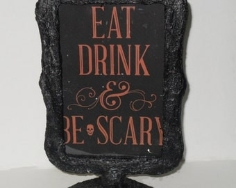 Gothic Double Sided Frame - Gothic Home Decor - Skull Frame - Sign Display