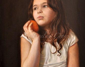 Oil Painting - Custom Portraits from Your Photos - Child Portrait - LARGER format 20x16 inches (Half Body)