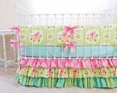 Baby Girl Crib Bedding -  Pink Garden District Crib Set
