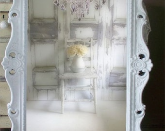 W H I T E, Baroque Mirror, Extra Large Shabby Chic Mirror, Vintage